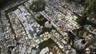 Books drying