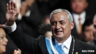 Guatemalan President Otto Perez Molina at his inauguration ceremony