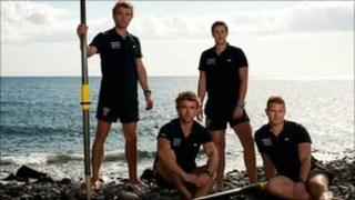 Hugo and Ross Turner, Adam Wolley and Greg Symondson of the Atlantic4 team