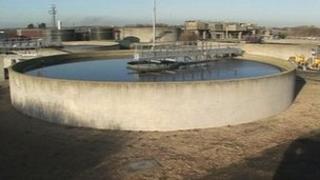 Bolton's Lane sewerage works in Ingoldmells near Skegness