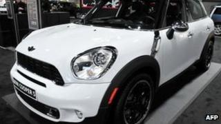 Mini Cooper S at a motor show in Washington DC