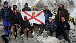 Islanders who trekked to Everest Base Camp for charity