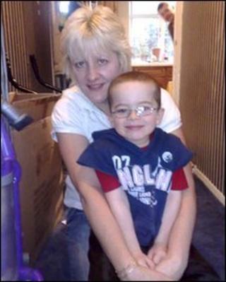 Zac with his Mum, Sam
