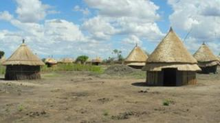 Village of Bildak in Ethiopia's Gambella region (Pic courtesy of HRW)