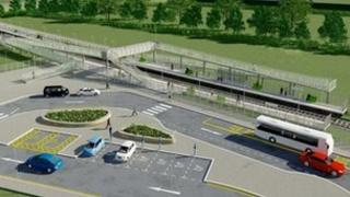 Artists impression of Stratford Parkway station