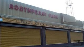 Front of Boothferry Park stadium