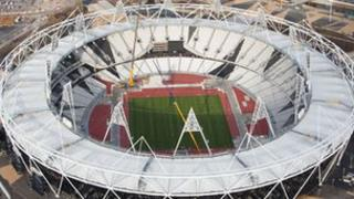 Aerial shot of the Olympic Stadium in the Olympic Park, Stratford, picture taken on 5 December 2011 by Anthony Charlton