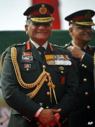 Gen VK Singh addresses journalists in Delhi on 15 January 2012