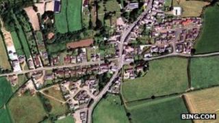 Aerial view of Kilkhampton