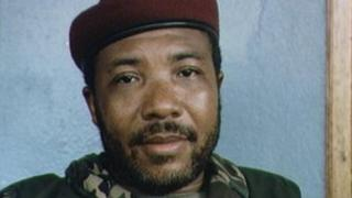 Charles Taylor as a rebel leader in the 1990s