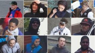 Still images from CCTV