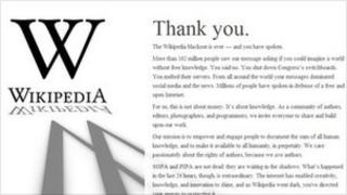 "Wikipedia ""thank you"" page"