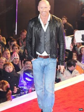 Gareth Thomas entering the Celebrity Big Brother House in 2012