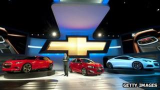 GM boot at Detroit auto show