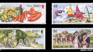 Jersey Post Visit Jersey stamps
