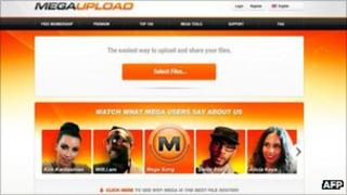 Megaupload screenshot