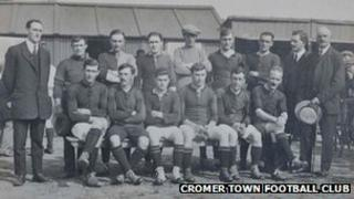 A Cromer Town Football Club team from the 1920s