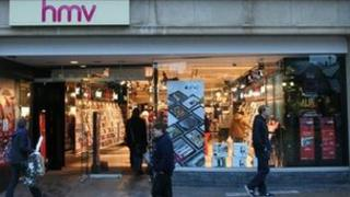 HMV shop in Norwich