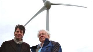 Executive chairman Gus Christie and Sir David Attenborough
