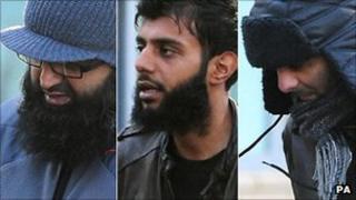 L-R: Ihjaz Ali, Kabir Ahmed and Razwan Javed