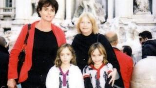 Sandra Rogers, right, with daughter Karen and granddaughters Emma and Chloe