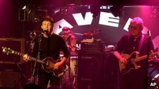 Paul McCartney plays at the Cavern Club