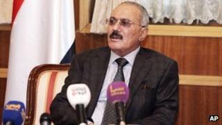 President Ali Abdullah Saleh (22 Jan 2012)