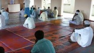 Muslim men pray in a mosque in Sri Lanka. File photo