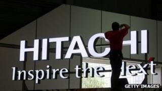 Hitachi sign