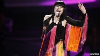 Jessie J performs at the Hammerstein Ballroom in New York, December 2011