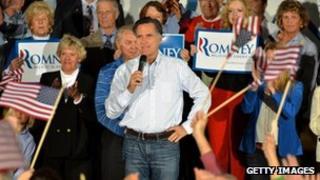 Mitt Romney campaigning at Ormond Beach, Florida