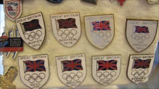 Part of collector Robert Wilson's Team GB collection