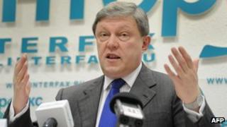 Yabloko leader Grigory Yavlinsky (23 Jan 2012)