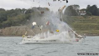 Crash test boat, by Yachting Monthly
