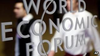 WEF logo in Davos