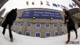 Delegates arrive at Davos