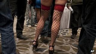 Adult film star at Adult Video Network Expo 19 Jan 2012 in Las Vegas