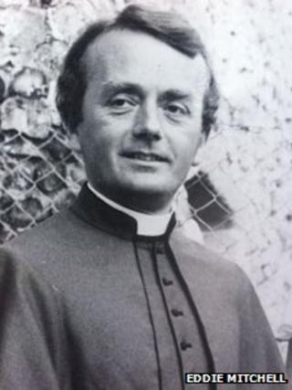 Father Wilkie Denford pictured in the 1970s