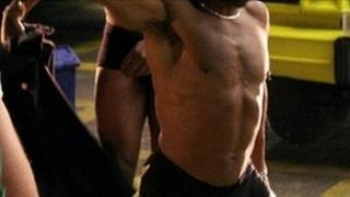 A male stripper