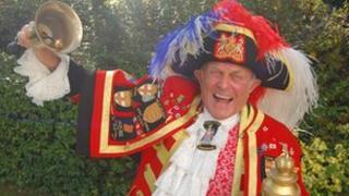 Town crier Tony Appleton