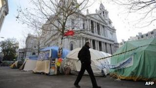 Tents at St Paul's