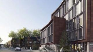 Artist's impression of the Friar Gate project