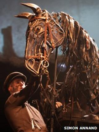 War Horse in London. Photo by Simon Annand