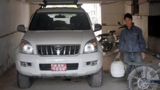 Former ministerial car in Nepal government garage