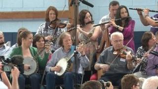 Musicians at fleadh