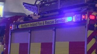 The fire service attended the blaze