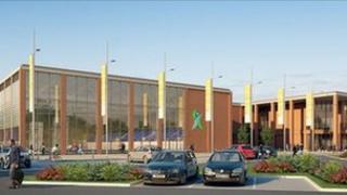 Artist's impression of Luton's new aquatic centre