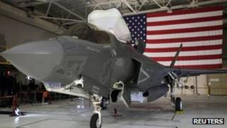 An F-35 Lightning II Joint Strike Fighter at the Naval Air Station, Patuxent River, Maryland 20 January 2012