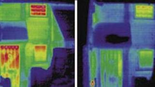 Before and after thermal images