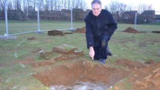 Dennis Meredith at the site in Southfields Park